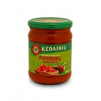 KĖDAINIŲ pomidorų padažas su pomidorų gabaliukais, 500 g