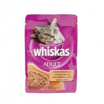 Guliašas katėms WHISKAS su lašišomis, 100 g