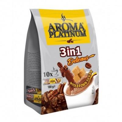 Kavos gėrimas AROMA PLATINUM 3 in1, 180g maiš.