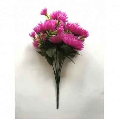 Dirbtinų gėlių chrizantemų puokštė, 12 žiedų, 32 cm