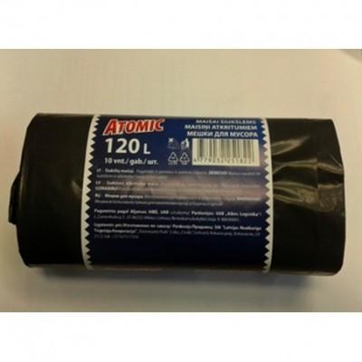 Šiukšlių maišai ATOMIC, LDPE 120Lx10vnt.