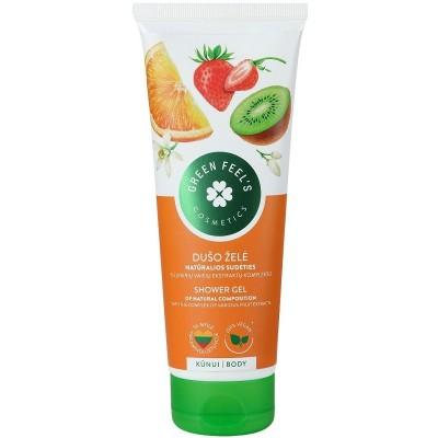 Dušo želė GREEN FEELS su įvairių vaisių ekstraktu, 250 ml