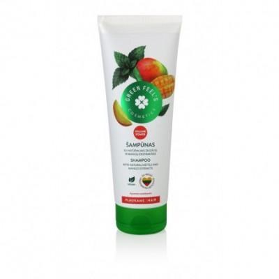 Šampūnas GREEN FEELS su dilgėlių ir mangų ekstrakt., 250 ml