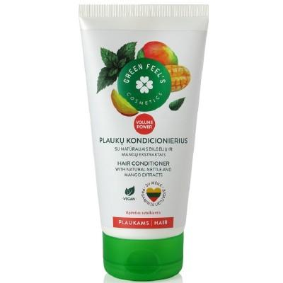 Plaukų kondic. GREEN FEELS su dilg. ir mangų ekst. 150 ml