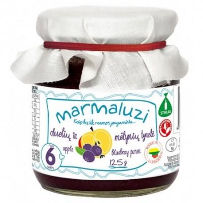 Obuolių-mėlynių tyrelė MARMALUZI (nuo 6 mėn), 125 g