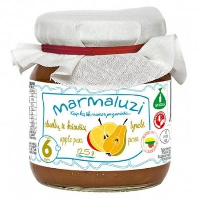 Obuolių-kriaušių tyrelė MARMALUZI (nuo 6 mėn), 125 g