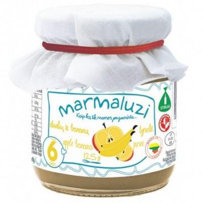 Obuolių-bananų tyrelė MARMALUZI (nuo 6 mėn), 125 g