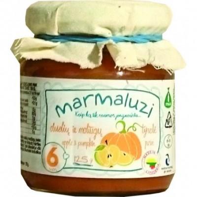 Obuolių-moliūgų tyrelė MARMALUZI (nuo 6 mėn), 125 g