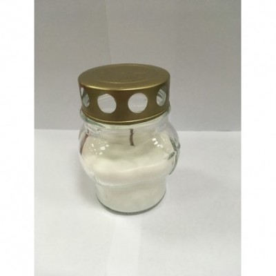 Kapų žvakė Moliūgėlis baltas,10cm, degimo l. iki20val.,1vnt.