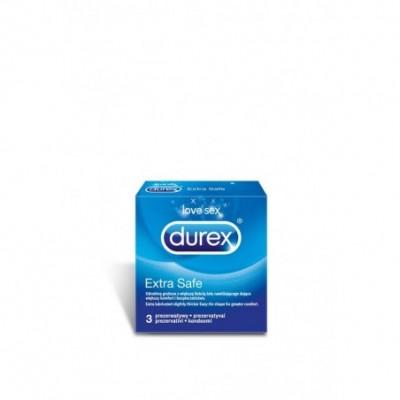 Prezervatyvai DUREX EXTRA SAFE, 3 vnt.
