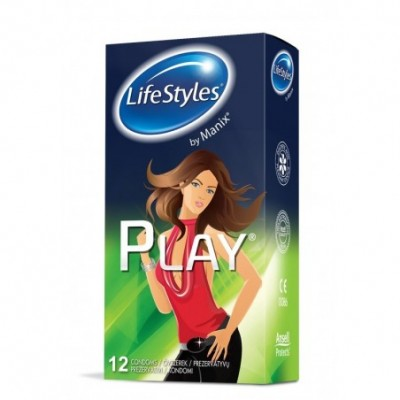 Prezervatyvai LIFE STYLE Play, 12 vnt.