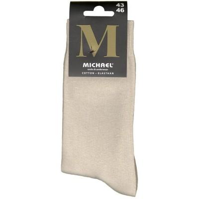 Vyriškos kojinės MICHAEL, M902, dydis 43/46, spalva smėlio