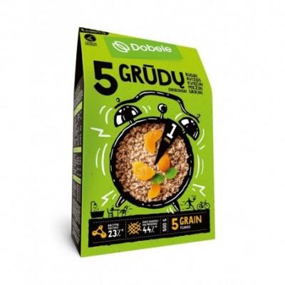 Penkių grūdų dribsniai DOBELE, 500 g