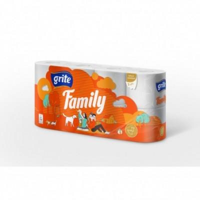 Tualetinis popierius GRITE FAMILY, 8 ritinėliai