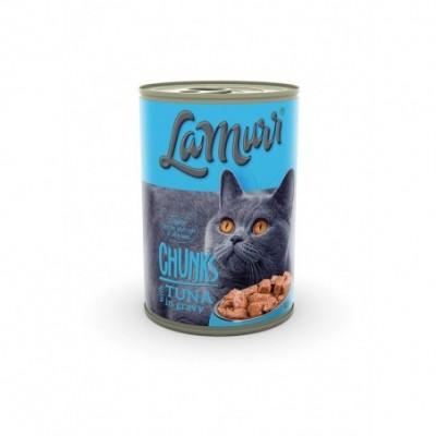 Kačių ėdalas LA MURR, skard., su tunu ir lašiša, 0,4 kg