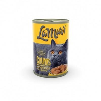 Kačių ėdalas LA MURR, skard. su vištiena ir kalakut.,0,4kg