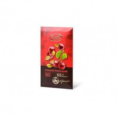 Juod. šokoladas RŪTA, 55%, su moliūgų sėkl. ir vyšn., 90 g