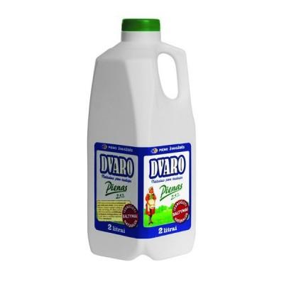 DVARO pienas  2,5% rieb., 2l pl.but.