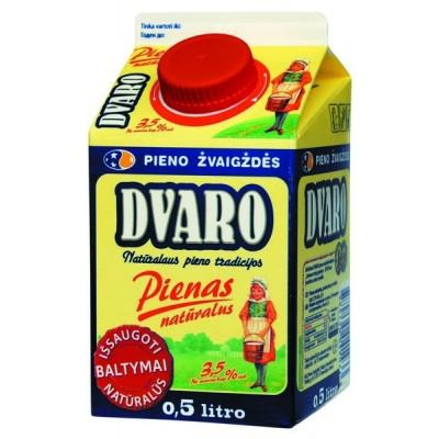 DVARO pienas 3,5% rieb., 0,5l t-rex su kamšt.