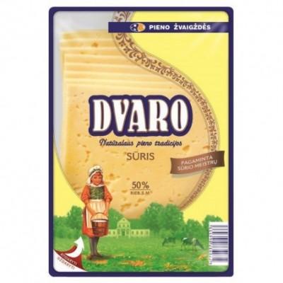 Ferm. sūris DVARO 50% r.s.m., raikytas 150 g