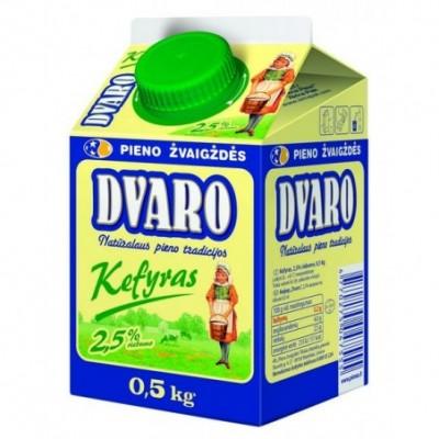 Kefyras DVARO 2,5% rieb., 0,5kg t-rex su kamšt.