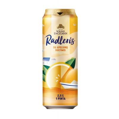 Alaus kokteilis RADLERIS apelsinų sk., 2,5 %, 568 ml