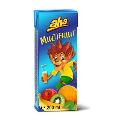 Įvairių vaisių sulčių gėrimas AHA, 0.2 l