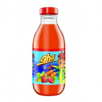 Morkų, braškių nektaras AHA, 52%, 0,3 l