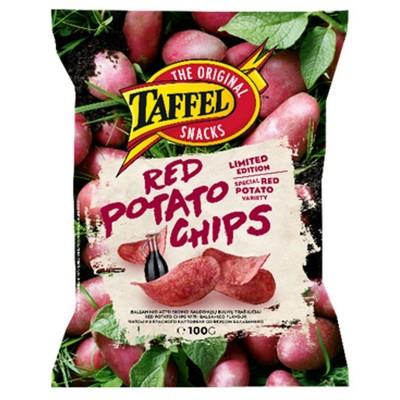 Raudonųjų bulvių traškučiai TAFFEL su balzaminiu padažu,100g
