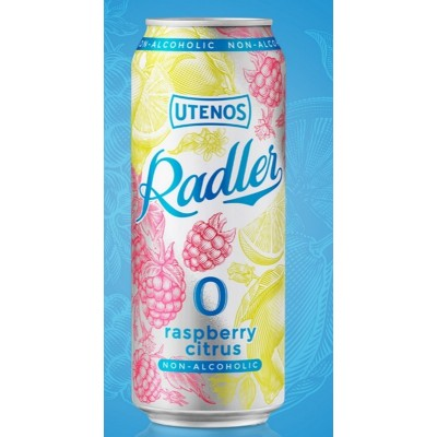 Nealk. alaus kokteilis UTENOS RADLER Raspberry Citrus,500 ml