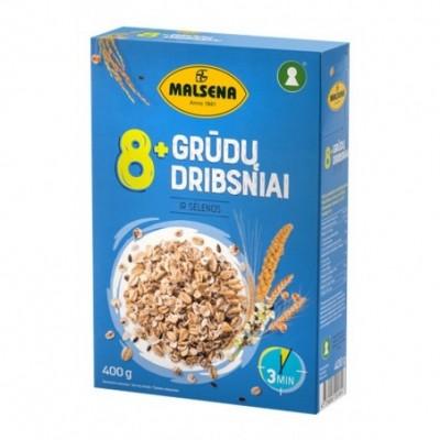 Aštuonių grūdų dribsniai MALSENA su sėlenomis, 400 g