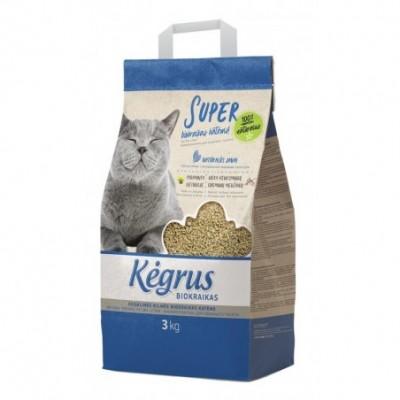 Augalinės kilmės biokraikas katėms KĖGRUS, 3 kg