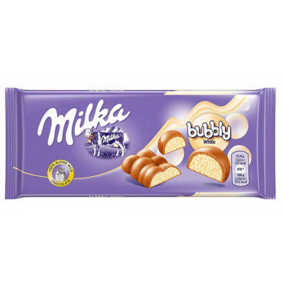 Orinis šokoladas MILKA WHITE, 95 g