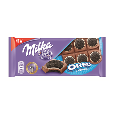 Pieninis šokoladas MILKA su kakaviniai sausainiai OREO, 92 g