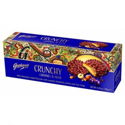 Sausainiai GOPLANA CARAMEL&NUTS, 140 g