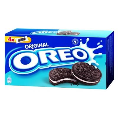 Kakaviniai sausainiai OREO su vanilės skonio įdaru, 44 g