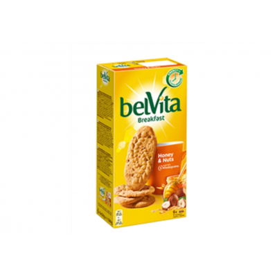 Sausainiai BELVITA su riešutais ir medumi, 300 g