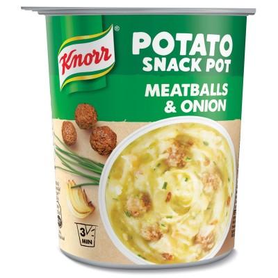 Bulvių košė indelyje, KNORR, su mėsos kukuliais, 53 g