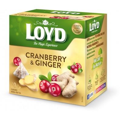Vaisinė arbata LOYD spanguolių-imbiero, 20vnt, 40g