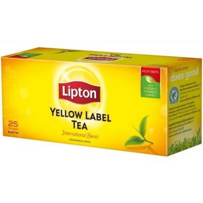 Juodoji arbata LIPTON YELLOW LABEL, 25 pak.