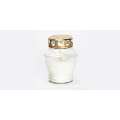 Žvakė stikliniame ind.MANGO  užpilta (24 val), 1 vnt.
