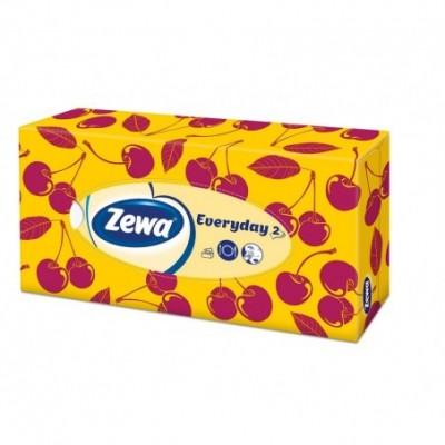 Vienkart.nosinaitės ZEWA  Flower Power, dėžė, 2 sl.,100 vnt.
