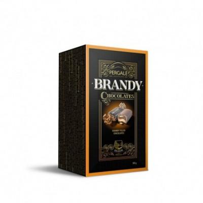 Saldainiai PERGALĖ, WITH BRANDY, dėžutėje, 190 g