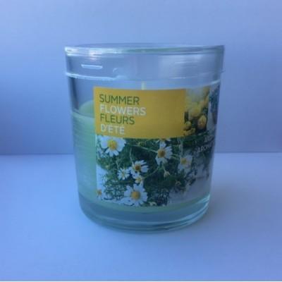 Kv.žvakė stikle, vasaros gėlės, 80/72 mm, 1 vnt.