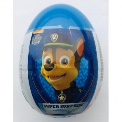 Kiaušinis - siurprizas BERNIUKAMS su saldain., žaisl., lipd.