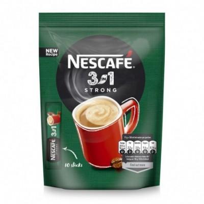 Kavos gėrimas NESCAFE STRONG 3 in1, maiš., 10x18 g