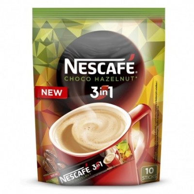 Kavos gėrimas NESCAFE choco hazelnut 3in1 (10x16g), 160 g
