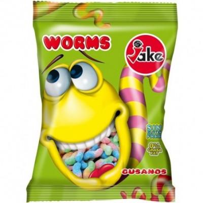 Rūgštūs guminukai jake worms 90 g