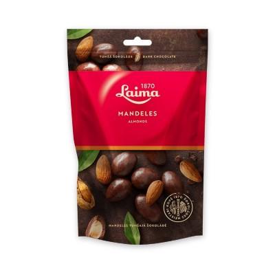 Migdolai juodame šokolade LAIMA dražė, 140 g