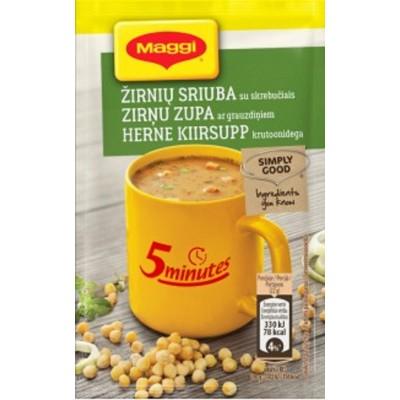 MAGGI 5min žirnių sriuba su skrebučiais 22 g
